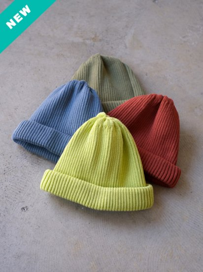 "RoToTo(ロトト) ""COTTON ROLL UP BEANIE(4colors)"""
