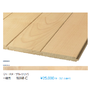 永大産業 プレミアムク・ハードメープル クリアナチュラル塗装