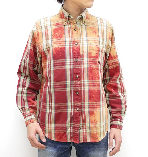 Stash natural bleach faded flannel shirts w tag for Best flannel shirt brands