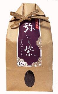 伝統黒米 弥生紫 1kg(令和元年産)