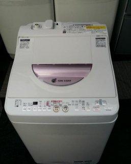 シャープ2012年 SHARP ES-TG60L-P [たて型洗濯乾燥機(6.0kg) ピンク系] - 日暮里リサイクル123