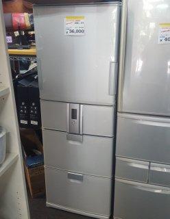 シャープ2008年 SHARP 冷蔵庫(375L・左右開き) SJ-HL38P-S(シルバー系) 冷⇔温 愛情ホット庫 - 日暮里リサイクル123
