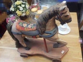 「飾り物」 馬車 木彫り made in philippines - 日暮里リサイクル123