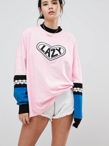 Lazy Oaf レイジーオーフ ロングスリープトップwithパッチ