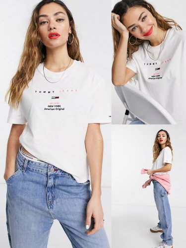 Tommy Jeans トミージョーンズ コットンロゴTシャツ