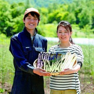 【370】滝本さんの有機栽培アスパラ3色セット ホワイト400g グリーン300g パープル300g