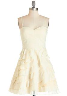 【即納】 ModCloth (モドクロス) ホワイト ワンピース ドレス
