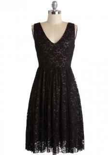 【即納】 ModCloth (モドクロス) ブラック 花柄レース  ワンピース ドレス