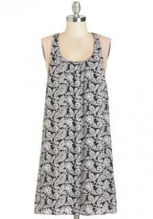 【即納】 ModCloth (モドクロス) モノトーン ペイズリー  ワンピース ドレス