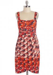 【即納】 ModCloth (モドクロス) 花柄 チューリップ裾 ワンピース ドレス