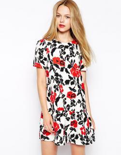【即納】 ASOS (エイソス) 花柄 フリル ワンピース ドレス