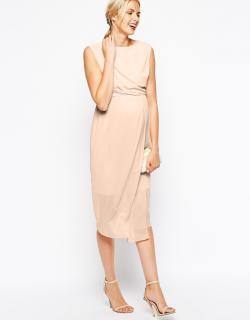 ASOS (エイソス) マタニティ Vバック ヌード ワンピース ドレス