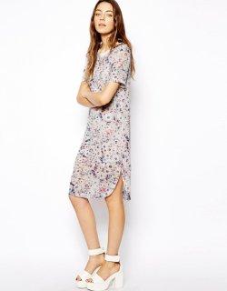 【即納】 ASOS (エイソス) パステル 花柄 ワンピース ドレス