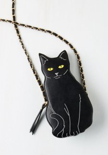 ModCloth (モドクロス) 黒猫 ショルダーバッグ