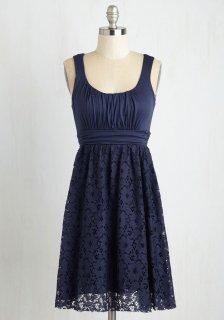 ModCloth (モドクロス) ブルーベリー ノースリーブ ワンピース ドレス