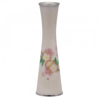 七宝焼き 花瓶 一輪ざし 有線 桜