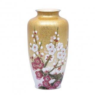 七宝焼き 花瓶 70号 紅白梅