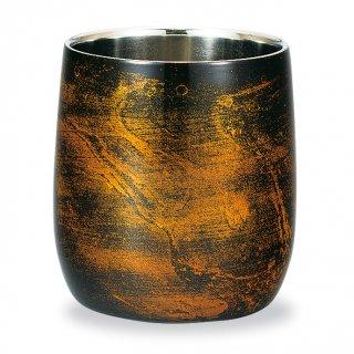 山中漆器 漆磨二重ロックカップ ダルマ 黒ビャクダン