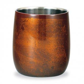 山中漆器 漆磨二重ロックカップ ダルマ 赤ビャクダン