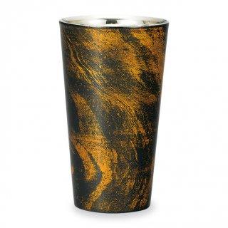 山中漆器 漆磨二重ストレートカップ 黒ビャクダン