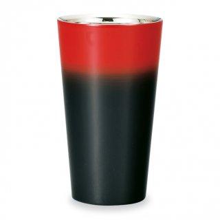 山中漆器 漆磨二重ストレートカップ 黒彩