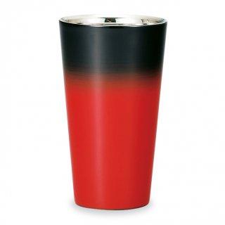 山中漆器 漆磨二重ストレートカップ 赤彩