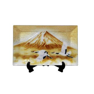 七宝焼き 飾皿 58富士に鶴