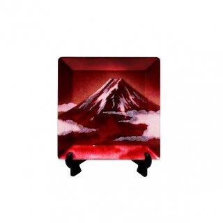 七宝焼き 飾皿 44赤富士