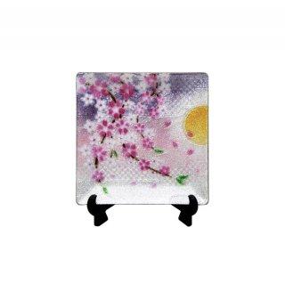 七宝焼き 飾皿 44しだれ桜