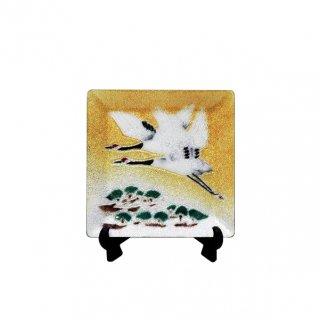 七宝焼き 飾皿 44松に鶴