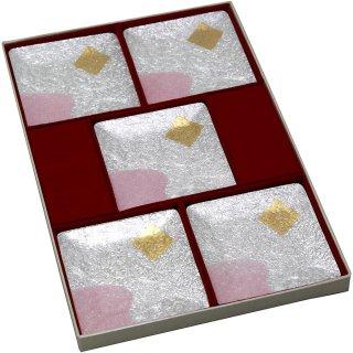 七宝焼き 銘々皿 3.5角 平安