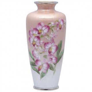 七宝焼き 花瓶 80号 細オーキット