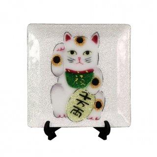 七宝焼き 飾皿 44招き猫