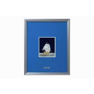 東京銀器 額 帆船(3号、4号)