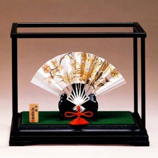 東京銀器 置物 扇(松竹梅)