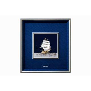 東京銀器 額 帆船(8号、9号)