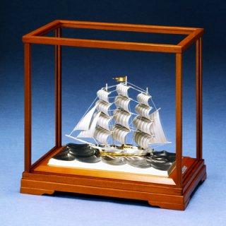 東京銀器 置物 帆前船