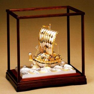 東京銀器 置物 宝船