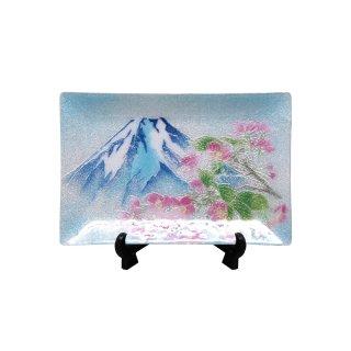 七宝焼き 飾皿 46新富士桜