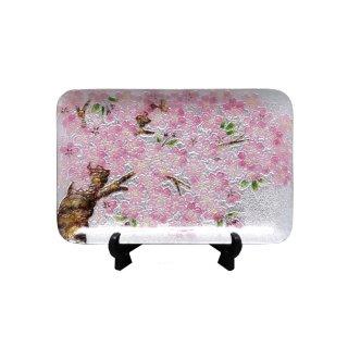 七宝焼き 飾皿 46桜