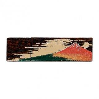 山中漆器 木製USBメモリー4GB 赤富士