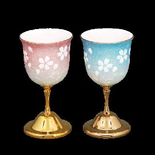 七宝焼き 卓上小物 ワイングラス桜(小)