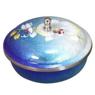 七宝焼き 食器 ボンボニエール 胡蝶蘭