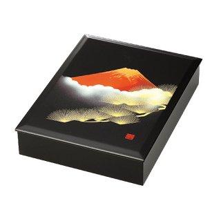 会津漆器 文庫 赤富士