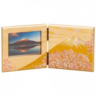 山中漆器 写真立て パネルピクチャー 富士雅桜