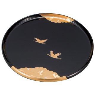 山中漆器 9.0丸盆 かがやき 黒