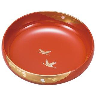 山中漆器 8.0盛鉢 かがやき 洗朱