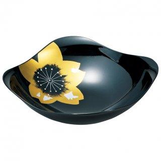 山中漆器 絆 8.0風雅鉢 ひとえ 黒