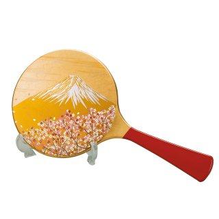 山中漆器 手鏡スタンド付 富士雅桜(G)