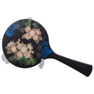 山中漆器 手鏡スタンド付 輝桜